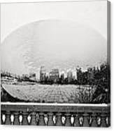 Snowy Cloud Gate Canvas Print