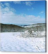 Snowy Hill Canvas Print
