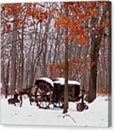 Snowy Implement Canvas Print