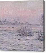 Snowy Landscape At Twilight Canvas Print