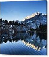 Snowy Mountain Reflections Canvas Print