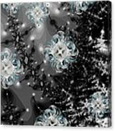 Snowy Night IIi Fractal Canvas Print