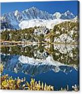 Snowy Reflections On Lake Canvas Print