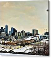 Snowy Seattle Canvas Print