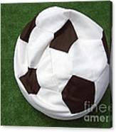 Soccer Ball Seat Cushion Canvas Print