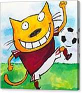 Soccer Cat 2 Canvas Print