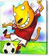 Soccer Cat Canvas Print