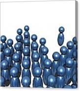 Social Networking, Conceptual Image Canvas Print