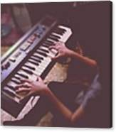 Sofi En El Piano. #piano #music Canvas Print