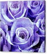 Soft Lavender Roses Canvas Print