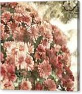 Soft Red Mums Canvas Print