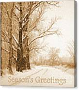Soft Sepia Season's Greetings Canvas Print