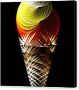 Soft Serve Ice Cream Citrus Swirl Canvas Print