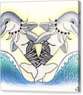 Soga'imiti Dolphins Canvas Print