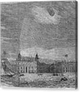 Solar Eclipse, 1858 Canvas Print