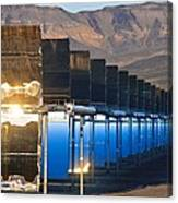Solar Power Plant At Sunrise Canvas Print
