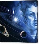 Solar System And Nicolaus Copernicus Canvas Print