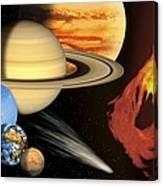 Solar System, Artwork Canvas Print