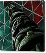 Solarised Totem Pole Canvas Print
