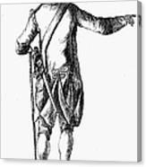Soldier, 18th Century Canvas Print