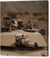 Soldier Looks Out The Main Hatch Canvas Print