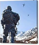 Soldier Patrols Through Alaska's Canvas Print