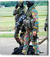 Soldiers Of The Special Forces Group Canvas Print