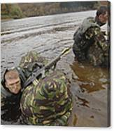 Soldiers Participate In A River Canvas Print