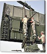 Soldiers Set Up A Tps-75 Radar Canvas Print