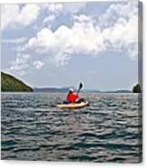 Solitary Man In Kayak Canvas Print