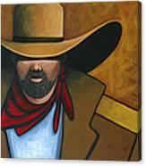 Solo Cowboy Canvas Print