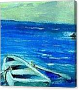Solo Rowboat Canvas Print
