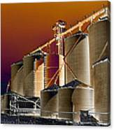 Soloized Grain Bins Canvas Print