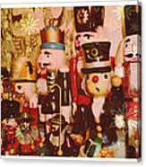 Some Flakey Nutcrackers Canvas Print
