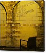 Someplace To Sit In The Alley Canvas Print