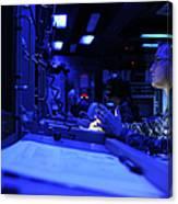 Sonar Technician Stands Watch Canvas Print