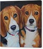 Sophie And Sadie Canvas Print