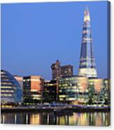 South Bank Of The River Thames, London Canvas Print