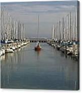 South Beach Harbor Canvas Print