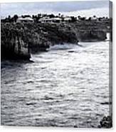 Menorca South Coast In A Stormy Mediterranean Day Canvas Print