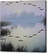 South Lake At Dawn Canvas Print