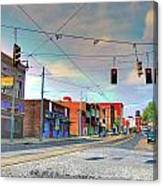 South Main Street Memphis Canvas Print