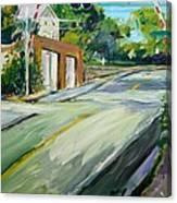 South Main Street Train Crossing Canvas Print
