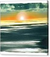 South Pacific Sunset Canvas Print