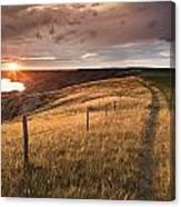 South Saskatchewan River Near Leader Canvas Print