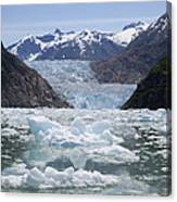 South Sawyer Glacier And Bay Full Canvas Print