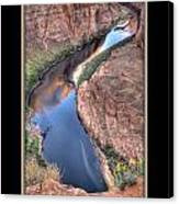 South Side Of Horseshoe Bend Canvas Print