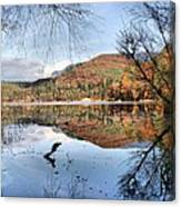 South Tyrol- Lake Of Monticolo Canvas Print