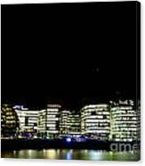 Southbank View Across The River Thames Canvas Print