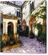 Southern Italy Villa Courtyard  Canvas Print
